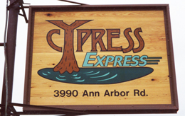Sample Sign for Cypress Express