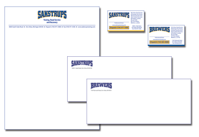 Example of Stationery for Sakstrups Towing
